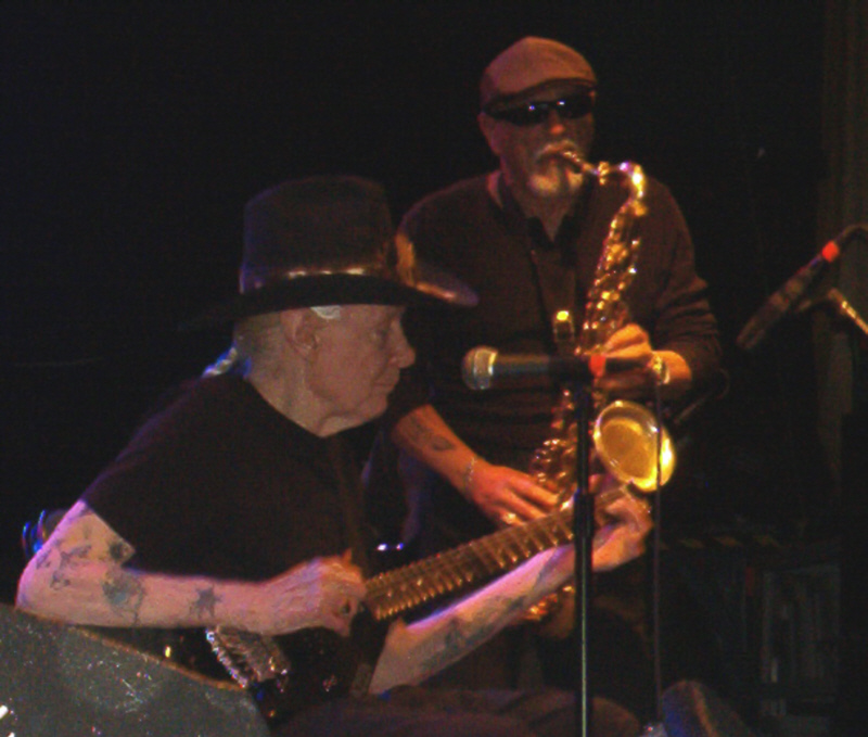 Jon and Johnny Winter at the Granada Theater in 2012